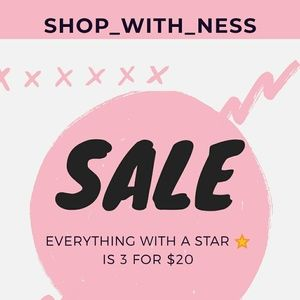 3/$20 EVERYTHING WITH A ⭐ IS INCLUDED